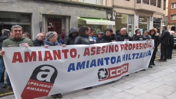 Concentración De CC.OO. Euskadi
