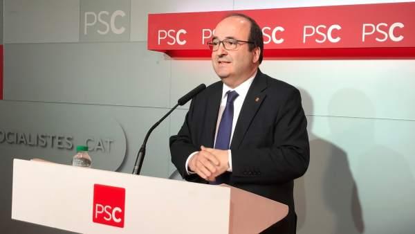 Fotografía de Miquel Iceta, secretario general del PSC.