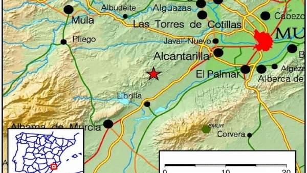 El temblor de Librrilla, de 2,7 grados