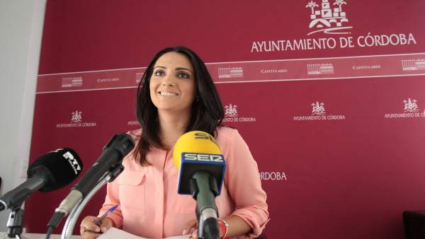 Carmen González en la rueda de prensa