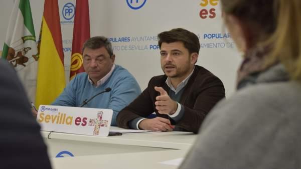 Portavoz del grupo popular en el Ayuntamiento, Beltrán Pérez