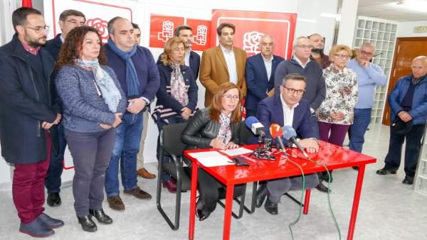 Imagen de la rueda de prensa ofrecida por Conesa y Castejón