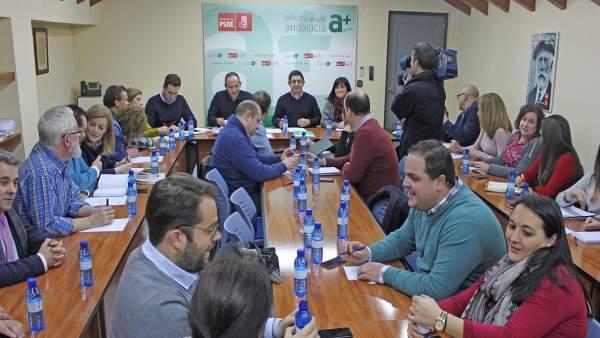 Reunión de la Comisión Ejecutiva provincial del PSOE de Jaén.