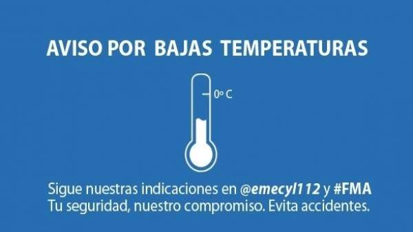Cuadro de aviso por bajas temperaturas