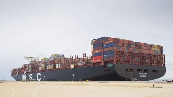 MSC 'Eloane' en el Puerto de Cádiz