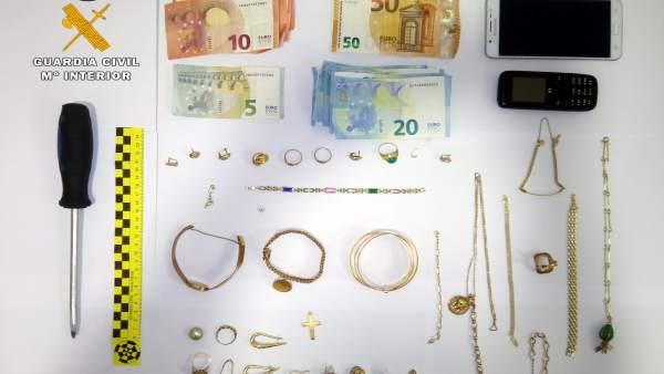 Joyas robadas incautadas al grupo itinerante de croatas