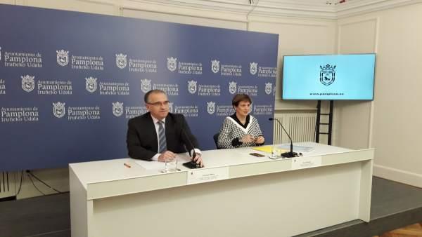 Enrique Maya y Ana Elizalde, concejales de UPN en Pamplona.