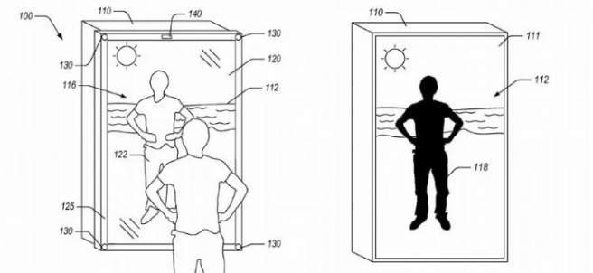 Ilustración para Amazon de USPTO de su espejo virtual