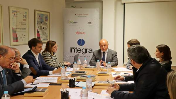 Carrillo, durante la reunión del Patronato de la Fundación Integra.