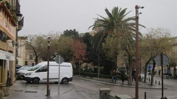 Cámara de acceso al casco antiguo de Cáceres