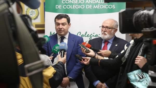Juanma Moreno atiende hoy a los medios