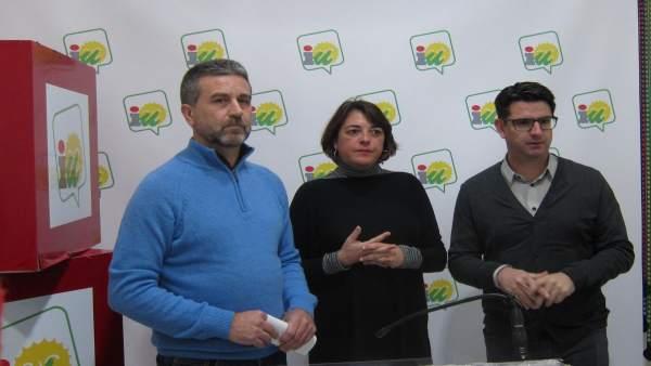Pedro García, Francisco A. Sánchez y Elena Cortés