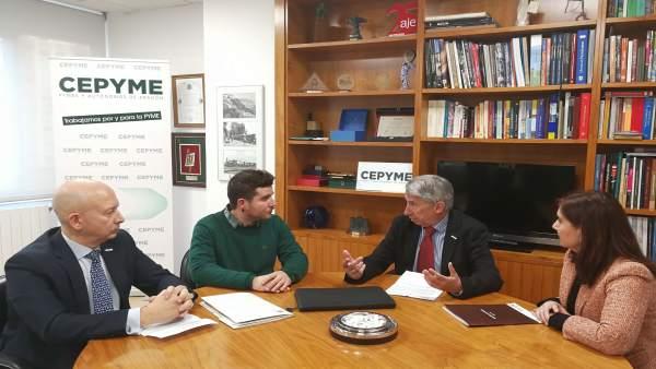 Reunión entre Cepyme Aragón y Podemos