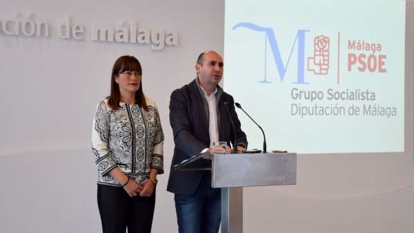 Málaga psoe diputación conejo y sonia ramos