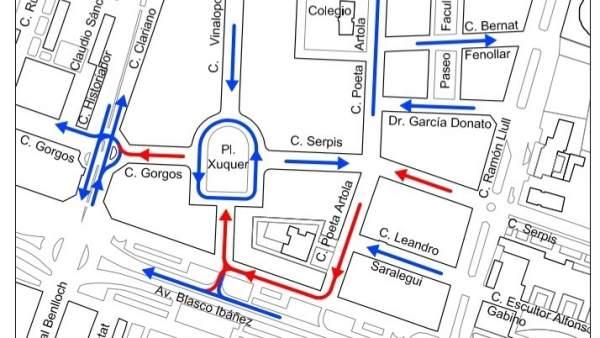 Cambios en la plaza Xúquer