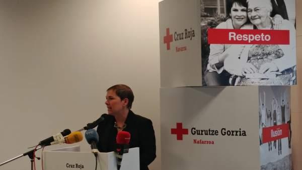 Uxue Bakros en la presentación de 'Espacio Activo' de Cruz Roja Navarra