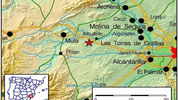 Lugar en el que se ha registrado el terremoto de magnitud 3.4