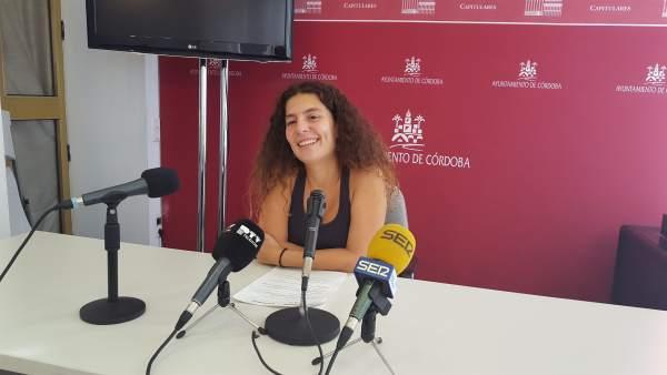 La viceportavoz de Ganemos Córdoba en el Ayuntamiento, Vicky López