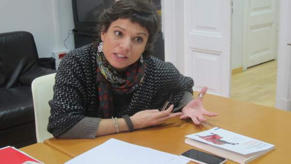 La secretaria general de la UIJS, Beatriz Talegón (PSOE).