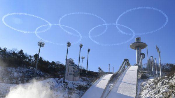 Anillos olímpicos en PyeongChang