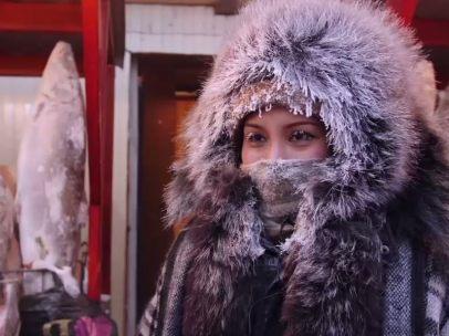 Mercado congelado en Siberia