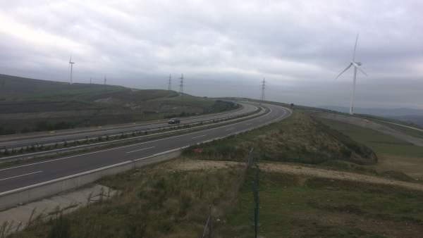Autovía A-8 con niebla y mal tiempo, Lugo, Mondoñedo