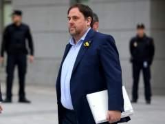 Junqueras llega a la Audiencia Nacional para declarar por rebelión.