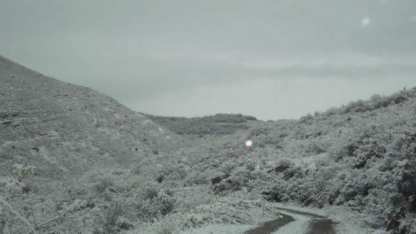 Nieve en La Rioja, monte nevado
