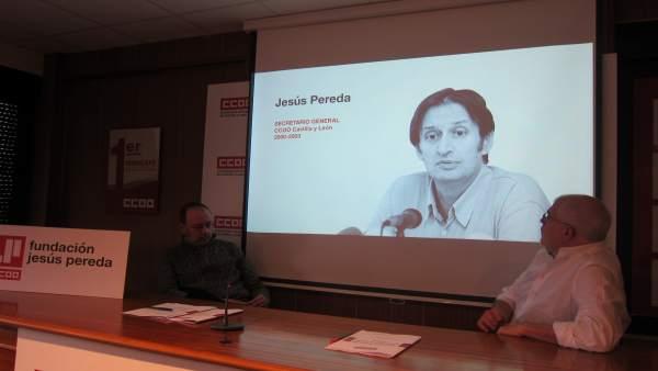 Castedo y Fernández en la presentación de la Fundación Jesús Pereda