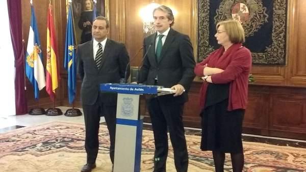 Fernando Lastra, Iñigo de la Serna y Mariví Monteserín
