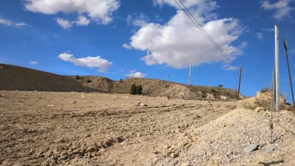 Terreno roturado ilegalmente en Murcia