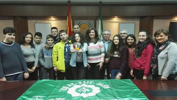 Nota De La Junta Y Foto Caballero Recepción Ganadores Premio Andalucía Joven Ies