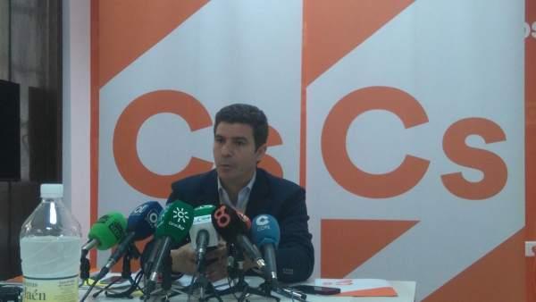 El parlamentario andaluz de Cs, Sergio Romero