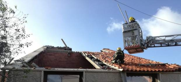 Tornado en Sanxenxo (Pontevedra)