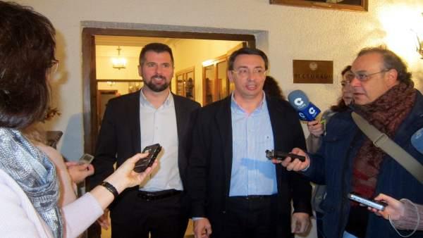 Luis Tudanca y Fernando Pablos