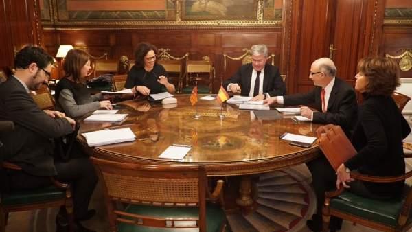 Armengol y Cladera en una reunión con Montoro