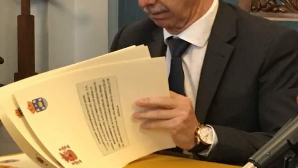 El presidente de la Confederación Miño-Sil, Francisco Marín