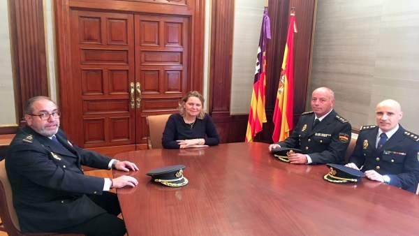 Bienvenida a los nuevos jefes de Policía en Baleares