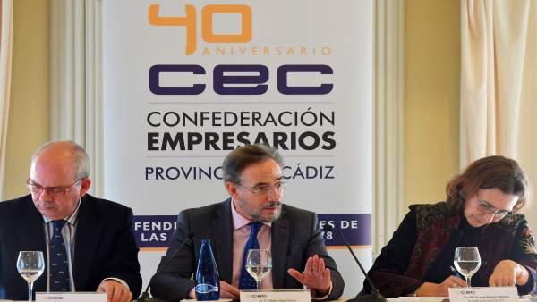 Foto Del Consejero De Fomento En El Acto De Hoy De La Confederación De Empresari