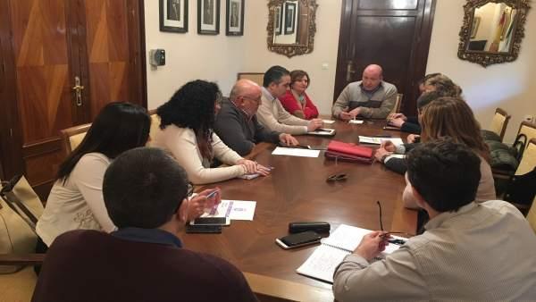 Reunión de coordinación del equipo de gobierno del Ayuntamiento.