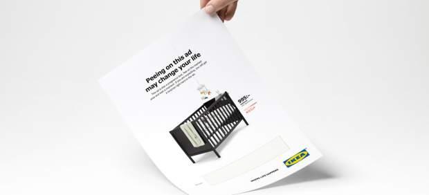 Ikea rebaja el precio de una cuna a las mujeres embarazadas que orinen sobre una revista