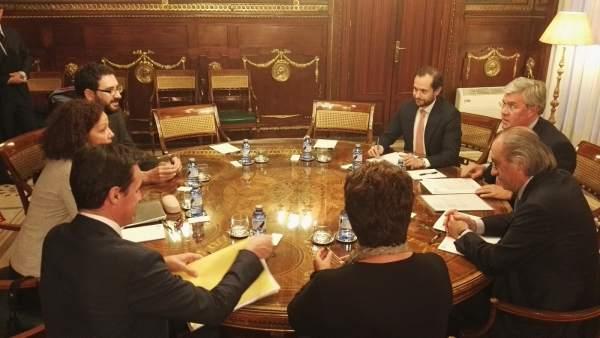 Reunión de Cladera con el secretario de Hacienda en noviembre de 2015