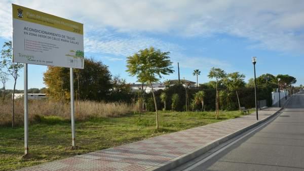 Más obras en el entorno del nuevo parque Olivar del Zaudín.