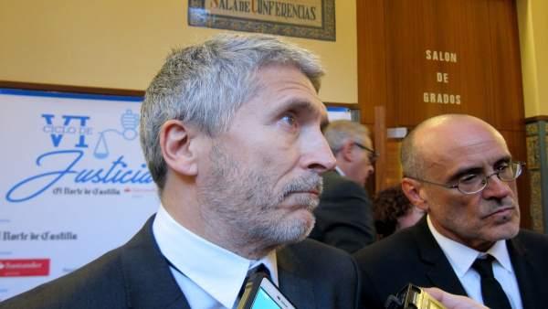 Grande-Marlaska (izda) y Miguel Ángel Aguilar.