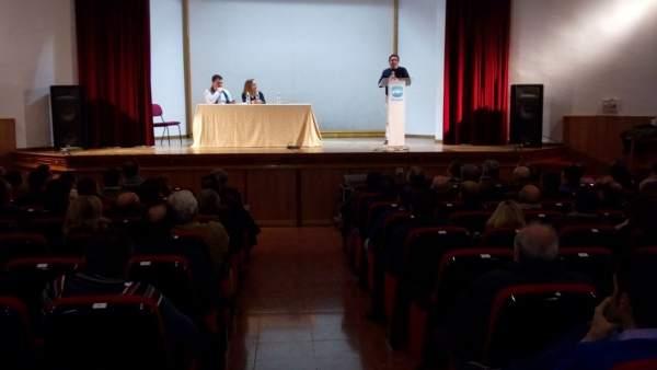 Miguel Moreno interviene en la reunión de Jaén Adelante.