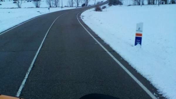 Carretera con nieve