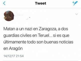 Delitos de odio tras el asesinato de dos guardias civiles en Teruel