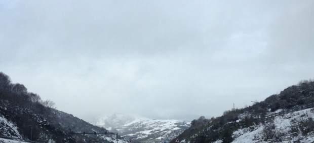 Nieve en Pedrafita do Cebreiro, en Lugo, Galicia