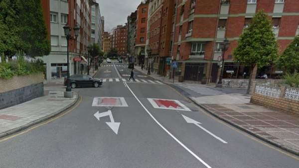 Calle Ramiro I, en Oviedo