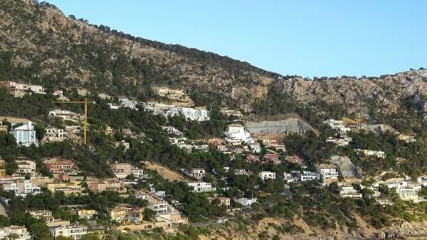 Urbanizaciones en la costa de Mallorca